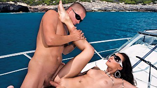 Aletta Ocean Rides on a Speed Boat and It Makes Her Super Horny