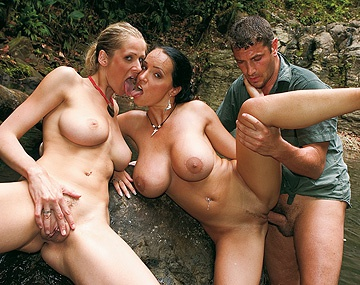Private  porn video: Jane Darling and Laura Lion Find a Dick in Their Ass in This FFM 3 Way