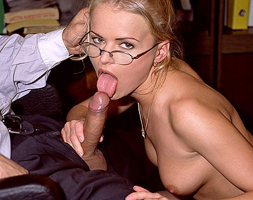 Private  porn video: The Hot Secretary Dora Venter Gives Her Boss a Handjob and a Blowjob