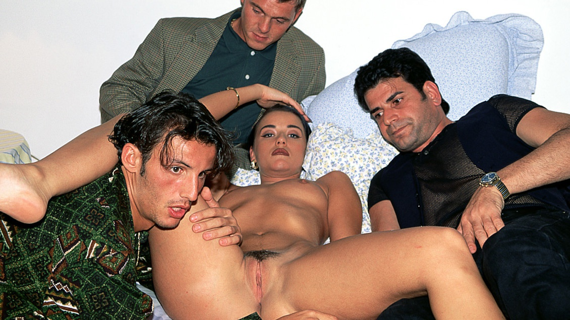Carol Rouge Is Brought Home by a Group of Guys for a DP Gangbang