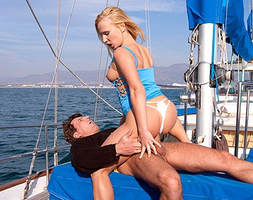 Private  porn video: On the Boat out at Sea Gina Has Sex with a Man Wearing a Suit