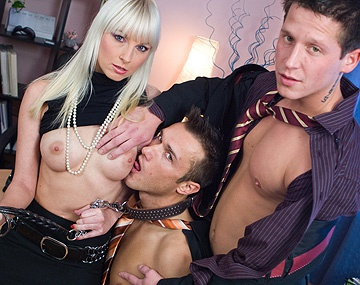 Private  porn video: MMF Threesome with Lena Cova Giving Blow Job While Getting Licked
