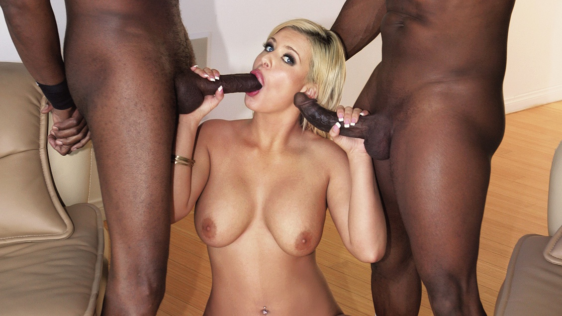 Andi Anderson in an Interracial DP