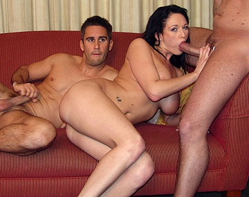Private  porn video: Big Boobed Brunette Donna Marie Gets Two Holes Filled in MMF 3 Way DP