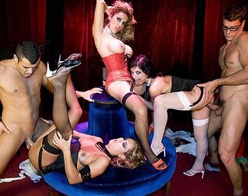 Private  porn video: Exotic Dancers Claudia Tiffany Hopkins and Yessy Have Big Orgy at Club