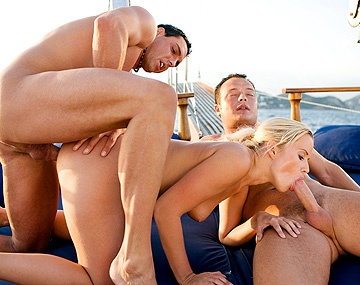 Private  porn video: Cindy Dollar Anal Fucked on a Boat by Two Guys Who Give Her a Facial