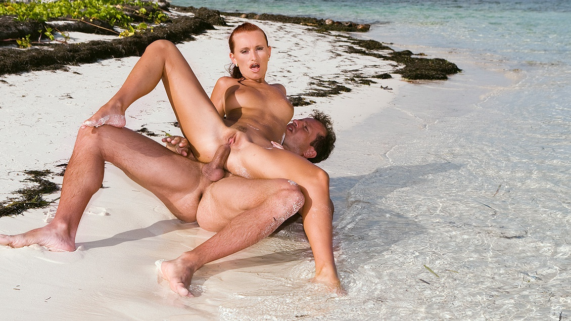 Anal Sex for Redhead Claudia Is Happening Here on a Tropical Beach