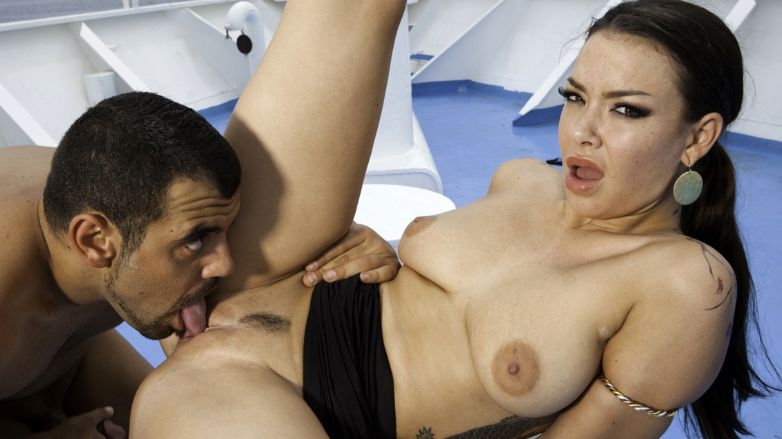 Sophia Santi on a Ship Penetrated While Masturbating
