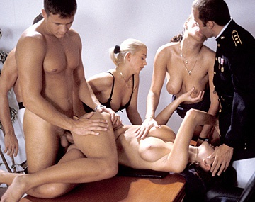 Private  porn video: Bisexuals Cristina Nicole Thomson and Noemi Having an Office Orgy