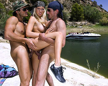 Private HD porn video: Blonde Chic Diana Gold Gets a DP from Two Soldiers out of Uniform