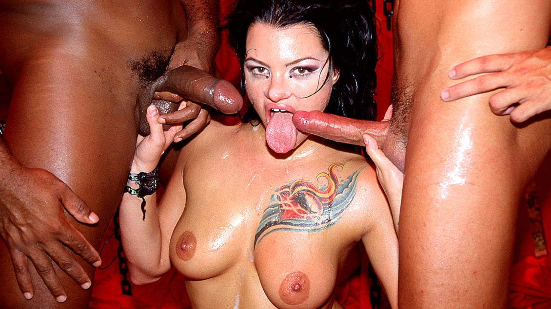 Miss Belladonna Has Her Way with Two Guys Who Double Penetrate Her