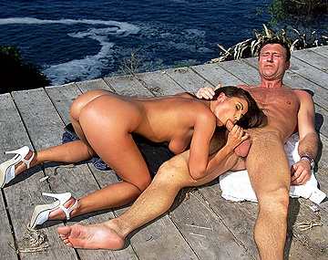 Private  porn video: Dora Gives Blowjob While Masturbating Outdoors before Her Facial