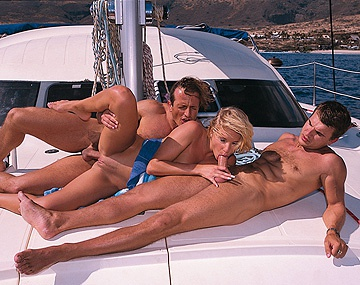 Private  porn video: Tina Wagner Gets Laid on a Boat in Hardcore MMF Threeway with Anal
