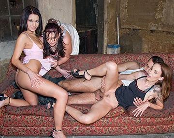 Private  porn video: Angelina, Cindy y Victoria zorreando con este malote