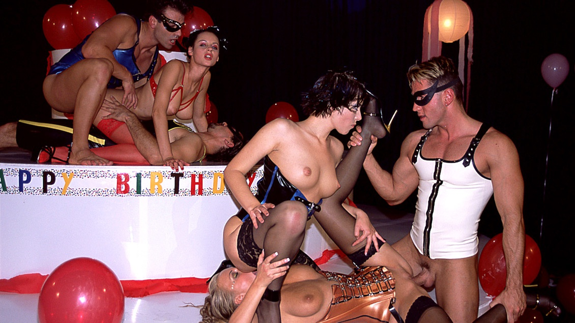 Alice, Michelle Wild and Myli Gets Screwed during a Birthday Bash Orgy