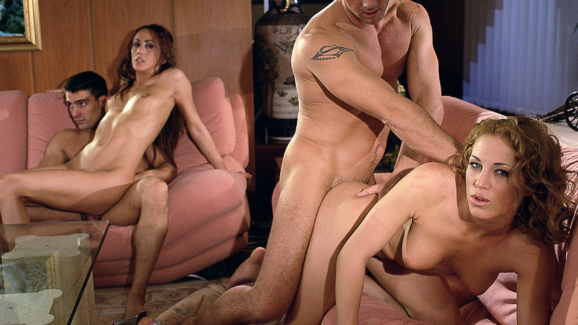 Adriana Esteve and Lynn Stone Have an Orgasm Getting Pussy Penetrated