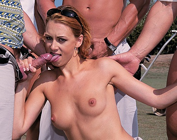 Private  porn video: Vivienne La Roche Gets Gangbanged and DPd Outdoors by Fellow Golfers