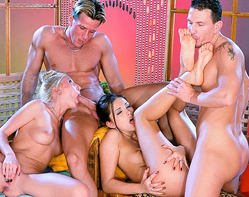 Private  porn video: Two Couples at the Sauna Turn Their Attention to Having Sex