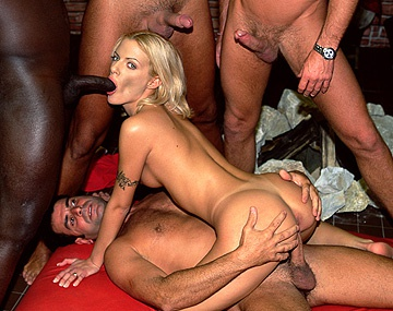 Private  porn video: Chrystal Is Kept Busy with a DP in an Interracial Big Dick Gangbang