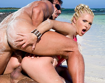 Private  porn video: Kathy Anderson Moans While Being Double Plugged on the Beach