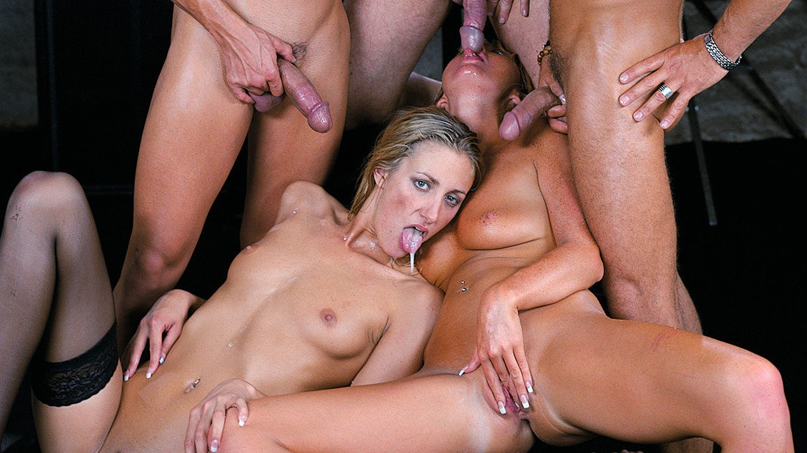 Angel Takes on Several Guys in All of Her Holes at the Same Time
