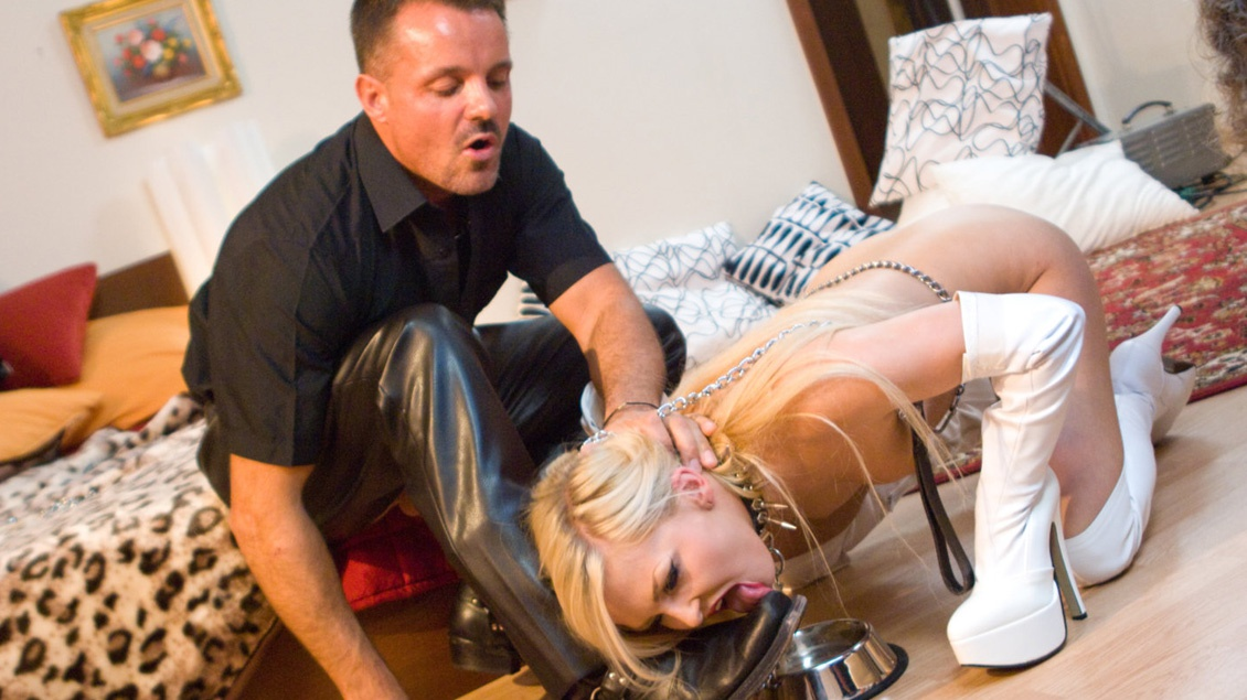 Beautiful Blonde Nicky Angel Deep Throats While Getting Spanked
