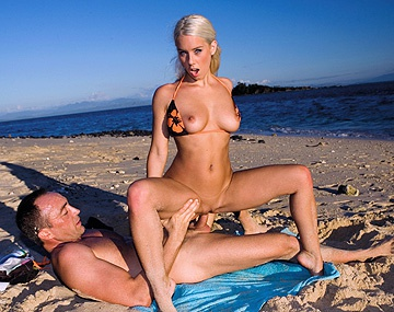 Private HD porn video: After Fooling around in the Ocean Nesty Goes to the Beach for Sex