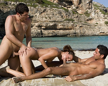 Private  porn video: Claudia Rossi Loves Anal Outdoors on Beach before ATM Blowjob