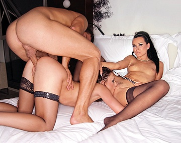 Private HD porn video: Aletta Ocean and Suzie Diamond Bend over Side by Side to Get Screwed