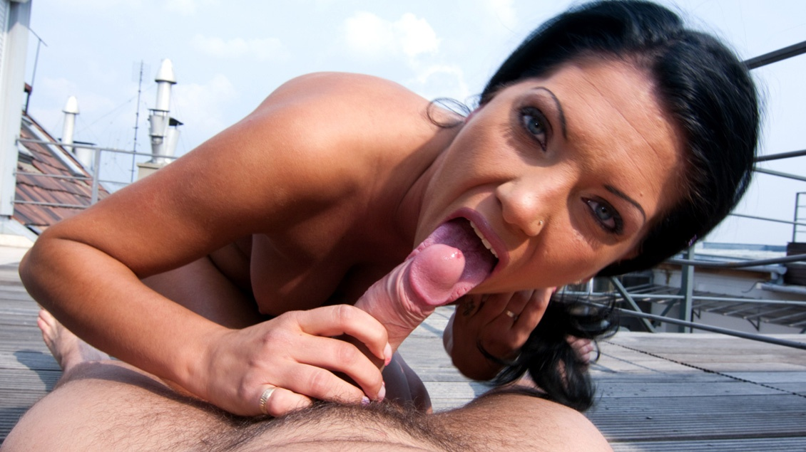 Wanda Gives an Outdoor Blowjob and Rides a Hard Rod in the POV Format