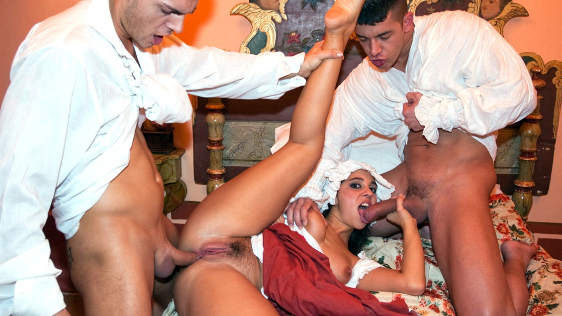 Salma the Maid Sucks and Fucks a Couple of the Men at the House