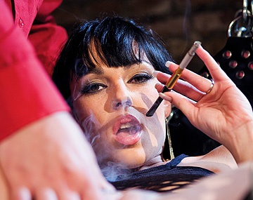 Private HD porn video: Tina Gabriel Has Her Asshole Penetrate While Smoking on a Sex Swing