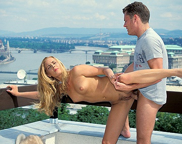 Private  porn video: Blonde Babe Nikky Anderson Fucked on Roof before Blowjob and Facial