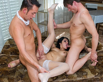 Private  porn video: Patricia Gets a DP from Her Two Male Boyfriends in a MMF Threesome