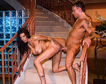 Private  porn video: Sexy Cougar Shay Sights Has Wild Sex on the Stairs
