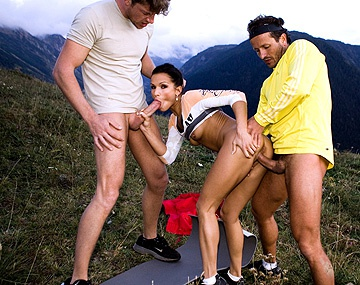 Private HD porn video: Sunny Jay Goes Mountain Biking and Meets Two Guys Who Give Her a DP