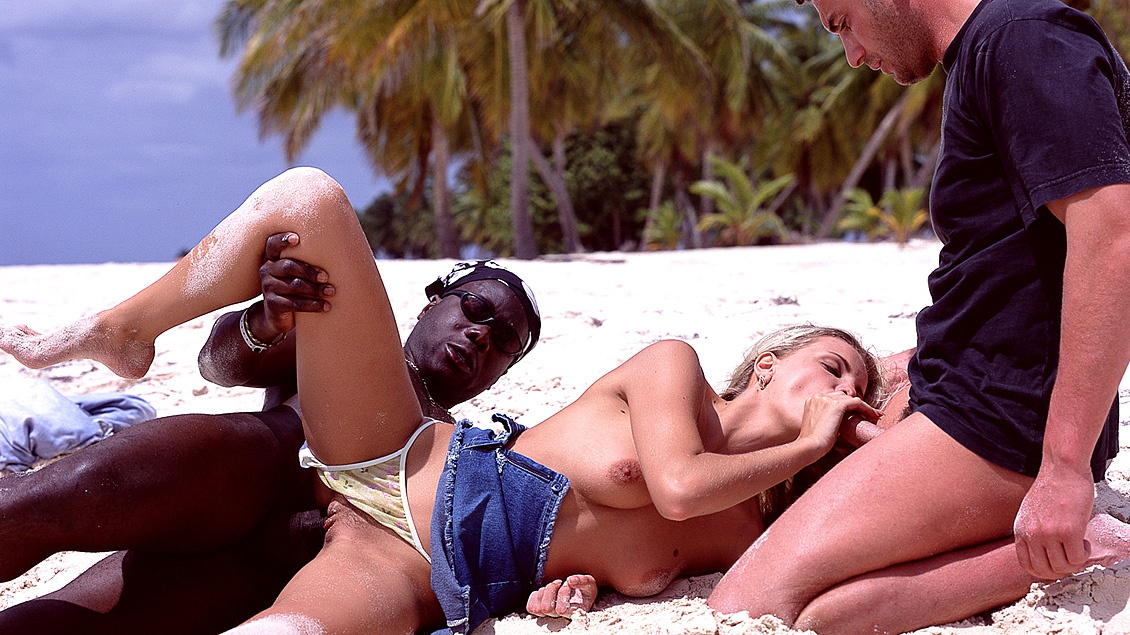 Alicia Has Her Hot Body Ravaged on the Beach during an Interracial DP