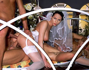 Private  porn video: Maria Bellucci and Michelle Wild Come Back from a Wedding and Get DPd