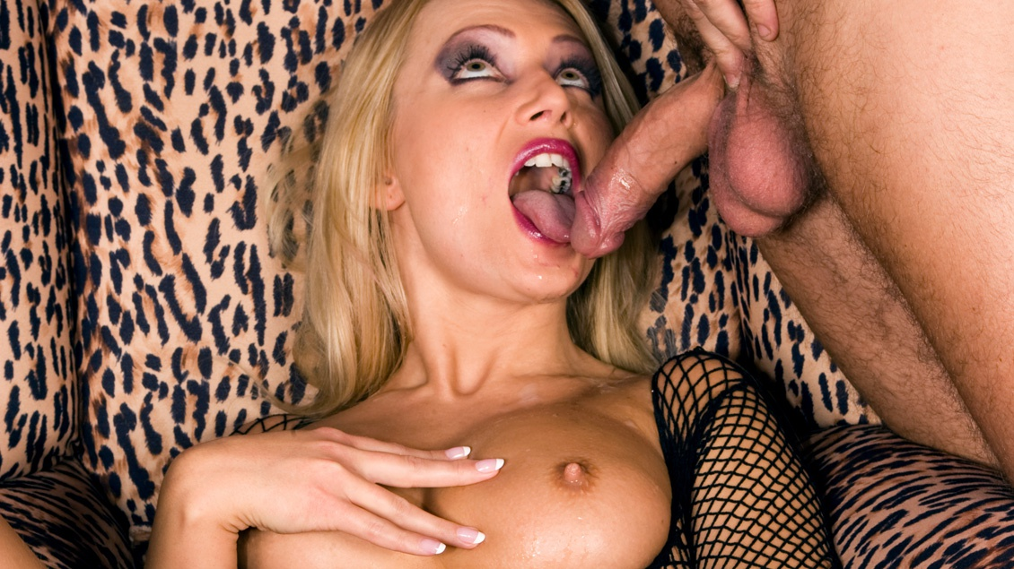 Ms. Diamond Wears a Fishnet Body Suit and Fucks Her Man