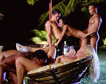 Private  porn video: Hot Silvia Saint Gets Cunnilingus during Group Sex Orgy