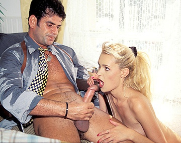 Private  porn video: Blonde Secretary Anike Has Office Sex with Boos for Anal and Facial