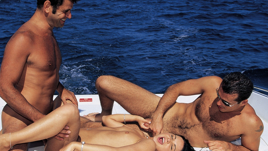 Cristina Bella on a Boat Trip Getting Anal during MMF Threesome