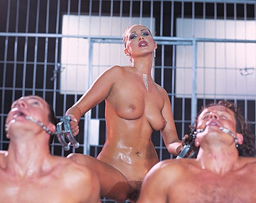 Private  porn video: Guards Mandy Bright and Nika Seduce Prisoner for Anal Sex and Facial