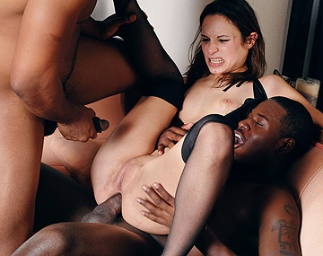Private HD porn video: Amber Rayne vs de black gangbang crew