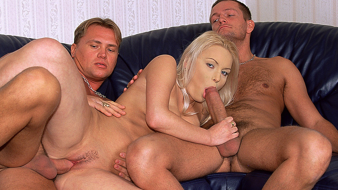 A Blonde with a Great Pair of Tits Lets a Stranger Plow Her Ass