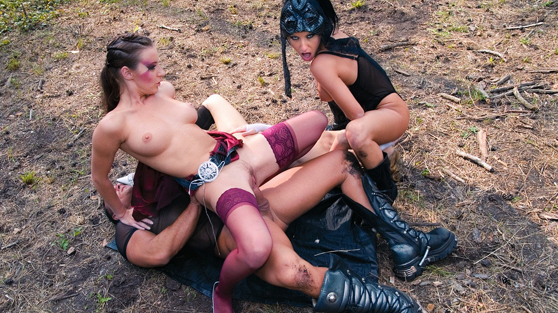A Forest Nympho Gives Judith Fox the Pounding of Her Life