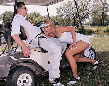 Private  porn video: Blonde Bombshell Alisson Is Penetrated on Top of a Golf Cart