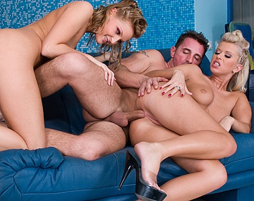Private  porn video: Bisexuals Liz Honey and Susanne Brend Rub Clit While Getting Anal Sex
