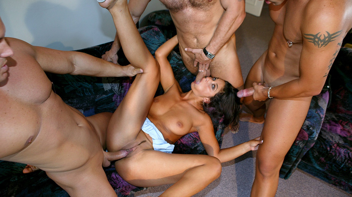 Three Men Show up to the House of Tera Joy and Fuck Her Silly