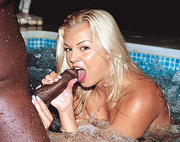 Private  porn video: Sunny Shares a Hot Tub and Her Pussy with a Black Guy at the Resort